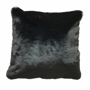Single Color Faux Fur Home Black