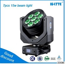 Nightclub Design 7pcs 15w LED Beam Projector Moving Head Light Beam New Moving Head Light For HL-12