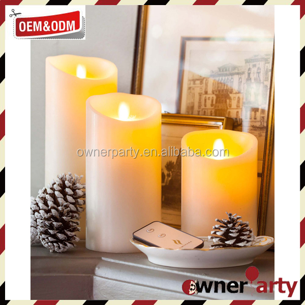 Hotsale Wholesale Pillar Eco Friendly Electric Flickering Color Moving Flame Led Candle