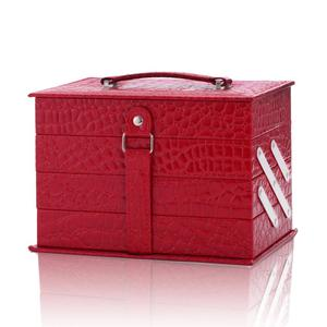 Holiday Exclusive Eyeshadow Blushes Powder Lipstick & More Leather Train Case with Mirror Makeup Kit
