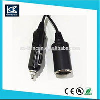 New product gps car chargers 12v dc 2.1mm car cigarette lighter power supply cable for rear view monitor KC-CAR-205