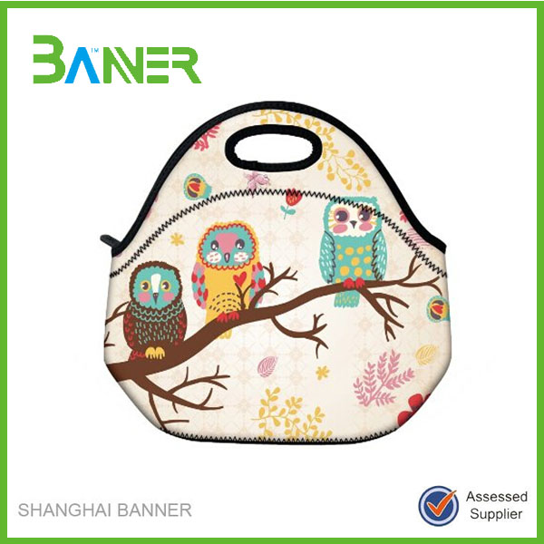 Promotional printing neoprene insulated lunch bag food warmer for kids