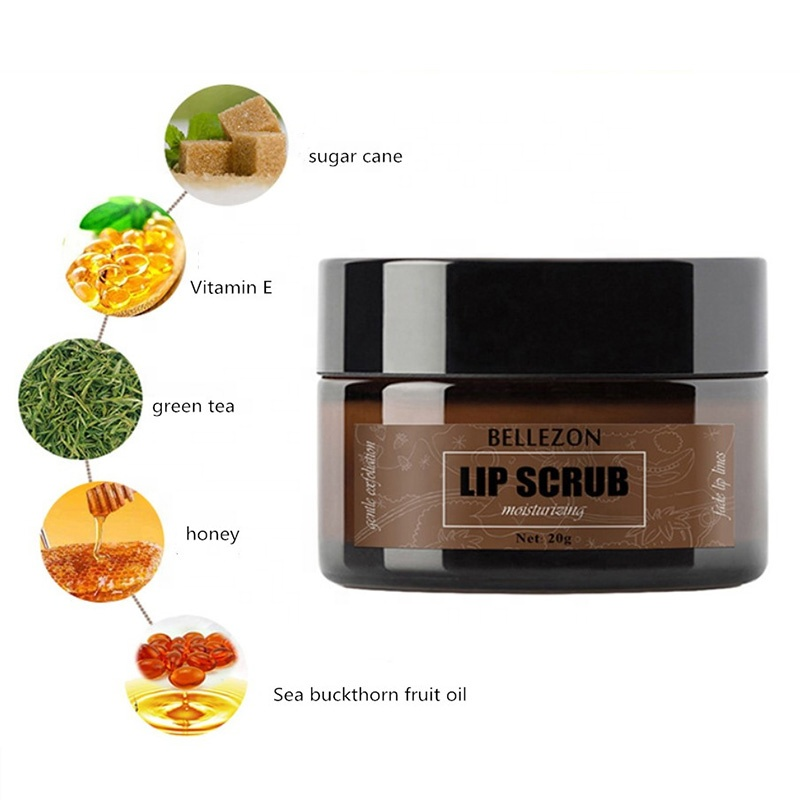 2019 Organic Lip Scrubs Voor Glad Gehydrateerd Lippen Scrub Private Label