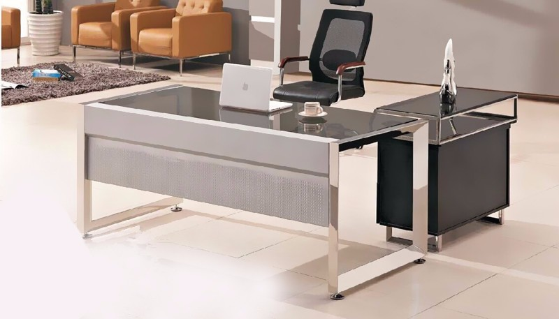 glass top office desk. Modern Glass Top Office Table Design With Wooden Side - Buy Top,Modern Design,Office Size Product Desk Alibaba