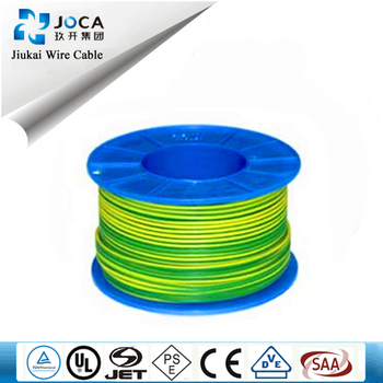 2.5mm Single Wire Green Yellow Color For Earth Or Ground Wire/cable ...