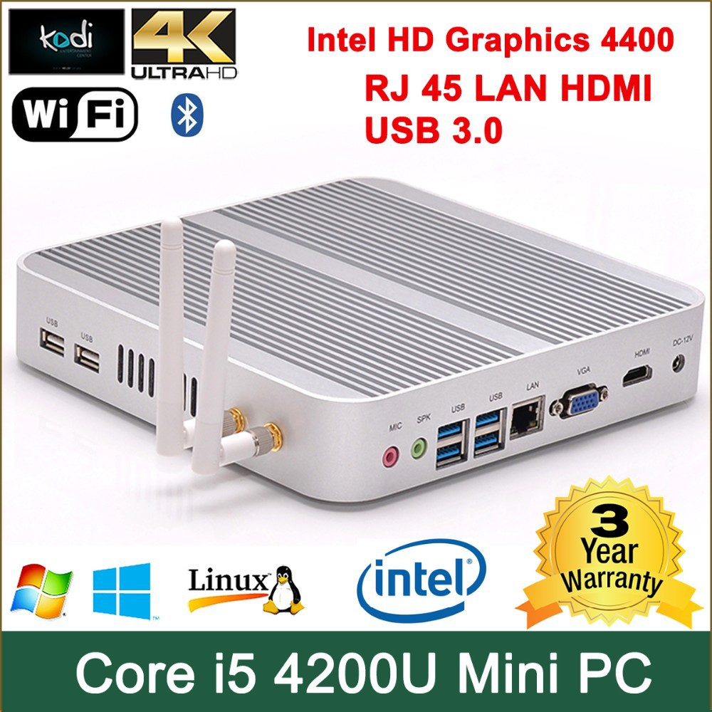 mini pc intel Core i5 4200U processor mac mini 1080p intel HD 4400 Graphics HDMI+VGA Win 7 i5 4200u mini pc