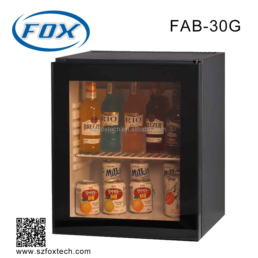 30L glass door hotel electronic minibar for hotel bedroom
