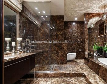 Marrone marmo emperador alabastro prezzo per il bagno progetto
