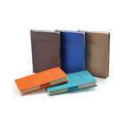 promotional new design pretty covers fabric leather notebook