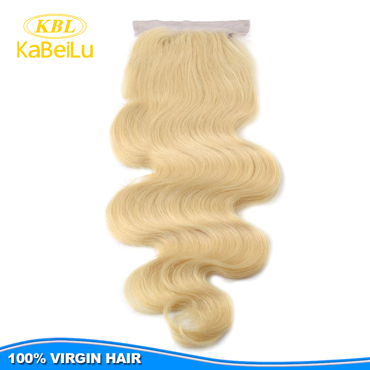 Wholesale price 613 blonde hair bundles with lace closure,no chemical blonde bundles with closure,blonde human hair with closure