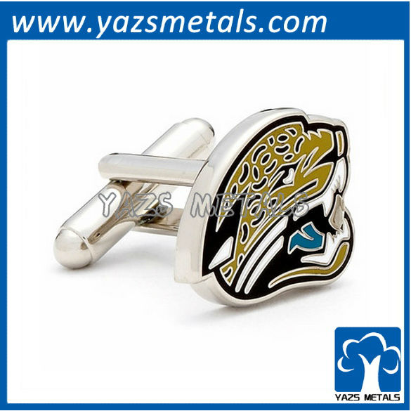 customized cufflinks, custom made Jacksonville jaguars cufflink