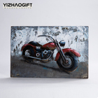 Fantastic Antique 3D Wall Art Metal Paintings of Bicycle Home Decoration