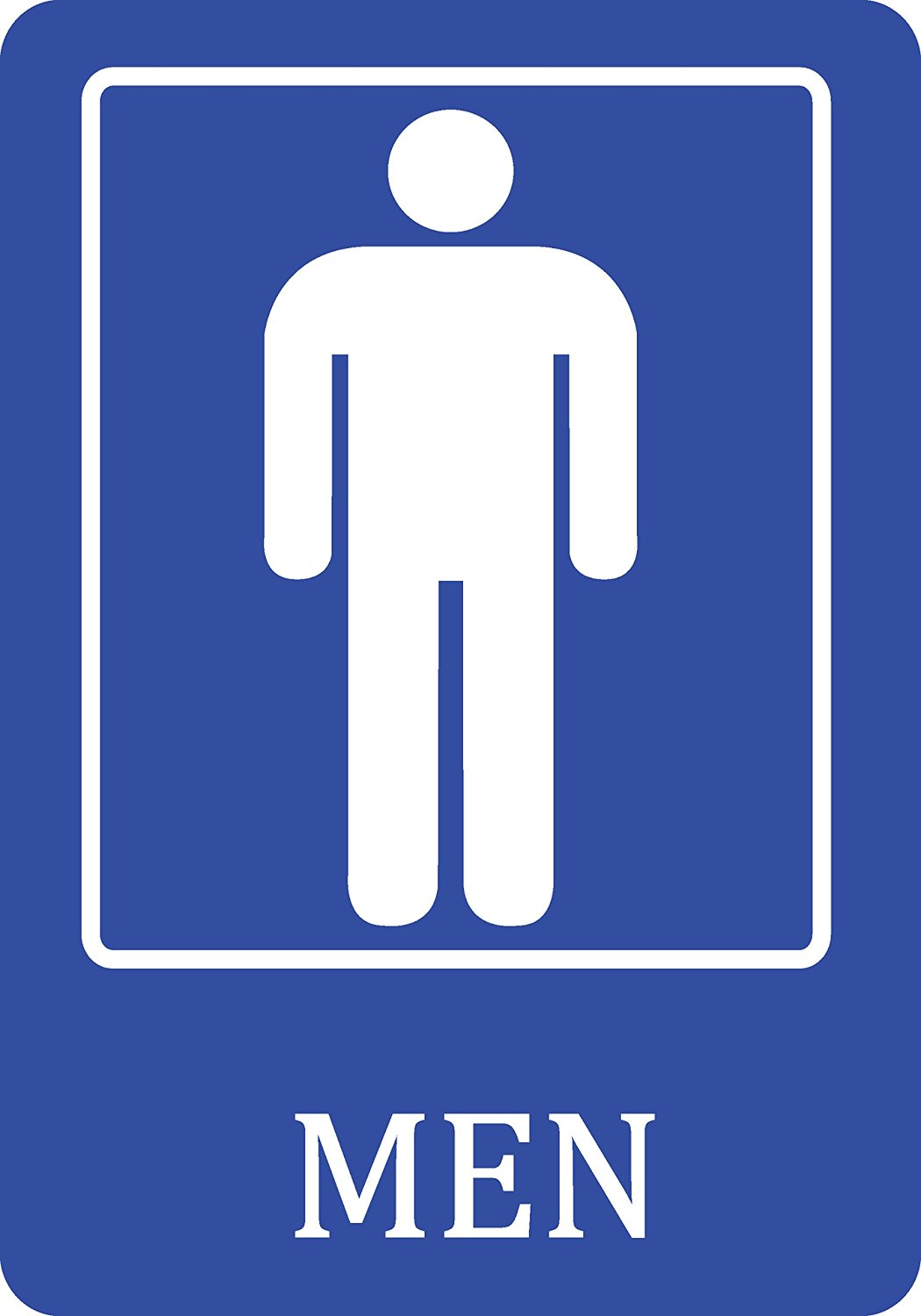 get quotations mens bathroom blue sign - Mens Bathroom Sign