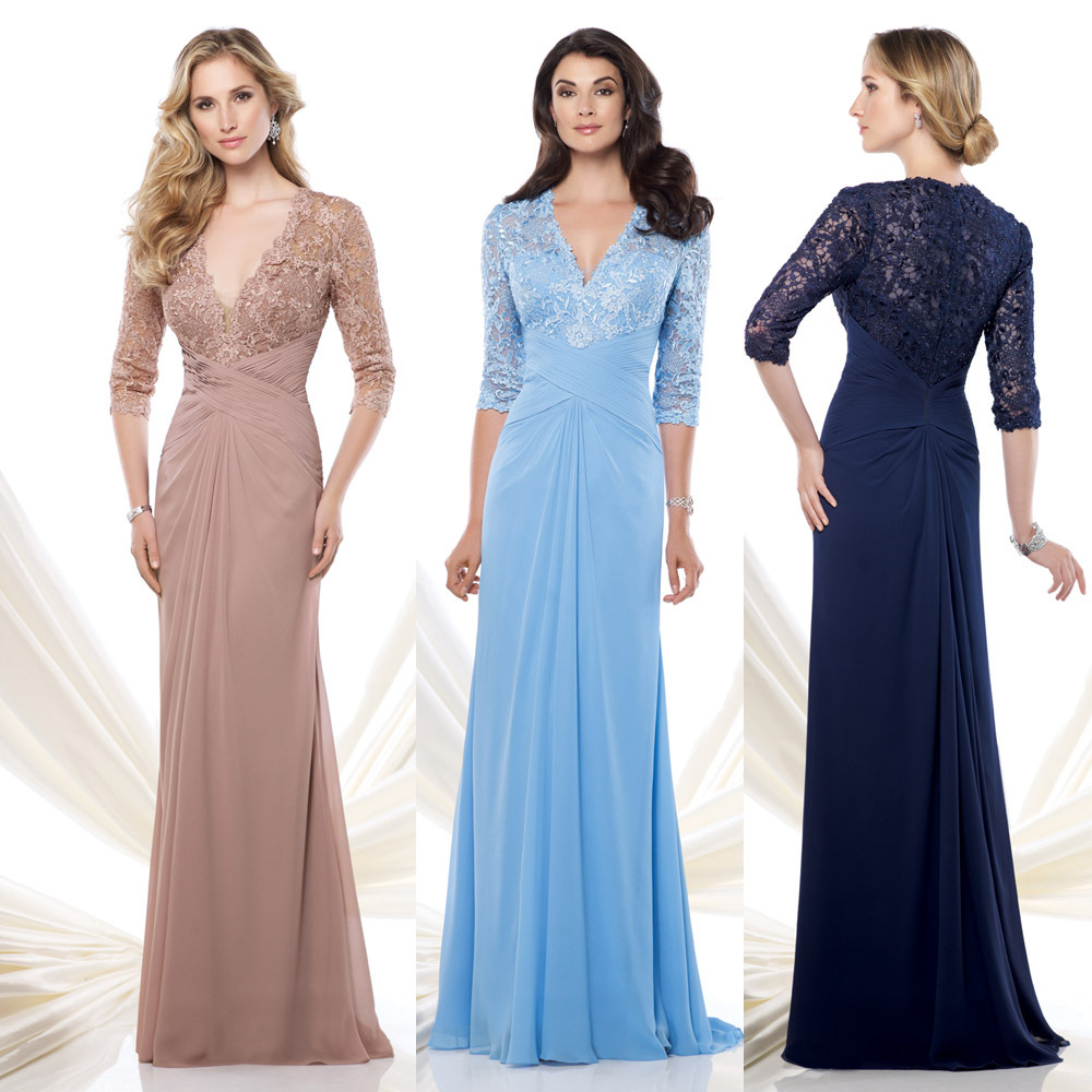 Mother Of The Groom Dress: Navy Blue Baby Blue Champagne 2015 Lace Mother Of The
