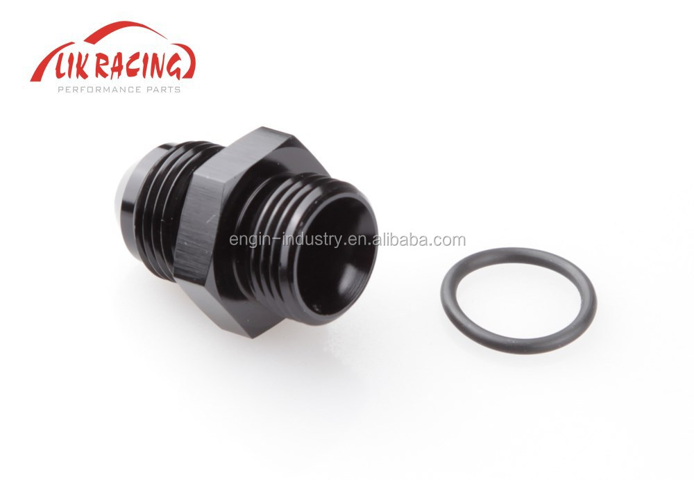 Black AN8-AN8 AN Male Flare to AN Straight Cut With O-RING AN& NPT Adapter