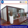 Luxury modular moible durable light weight used low cost log cabin steel prefabricated container house with wheels