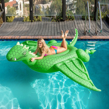 Custom Inflatable Giant Dragon Pool Float 108 Inches Length For Adults