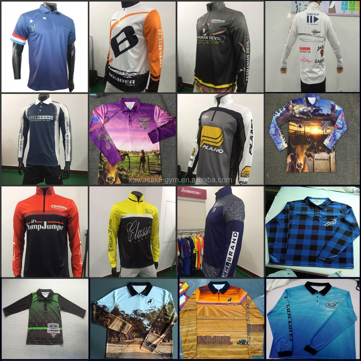 Dye sublimation pro bass fishing jerseys wholesale in china