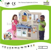 KAIQI children play house double side luxury kitchen toys for play hut