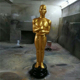 Event Decoration Large Size Indoor Decorative Golden Fiberglass Oscar Statue