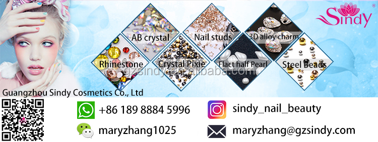 6 Grid Pack Flatback Nail Art Crystal