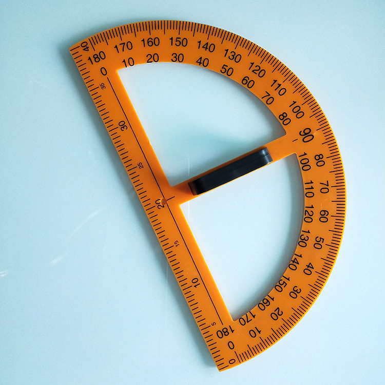 It is a photo of Astounding Small Printable Protractor