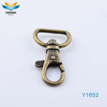wholesale spring d ring snap hook for bag with china manufacturer
