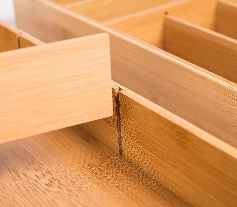 High Quality bamboo drawer organizer 5