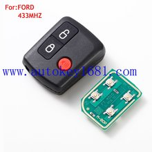 lowest price car key 3button 433mhz for ford remote key