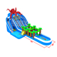 New design inflatable octopus water park combo with obstacle course with two pools for sale