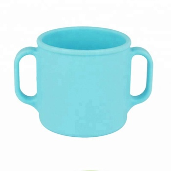 FDA Food grade Leak proof Silicone baby water cup for home