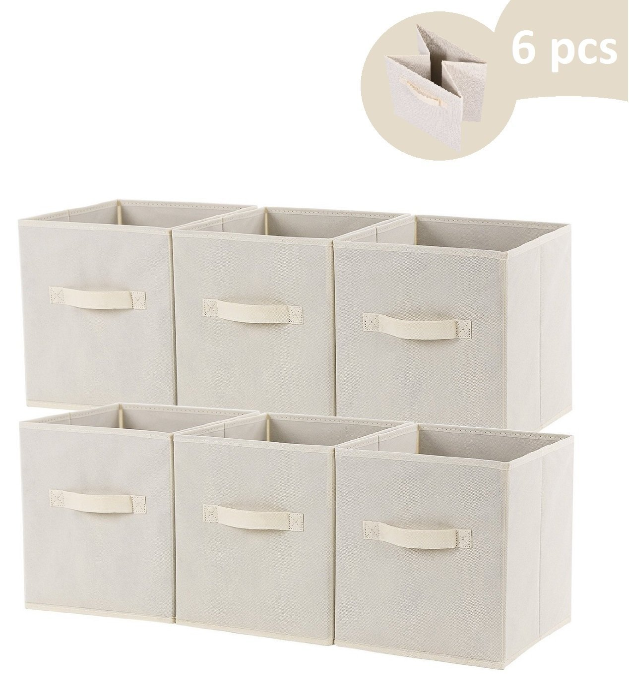 Superbe Alpha Storage Containers | Set Of 6 Space Saver Collapsible Foldable Fabric  Storage Container Drawer Organizer