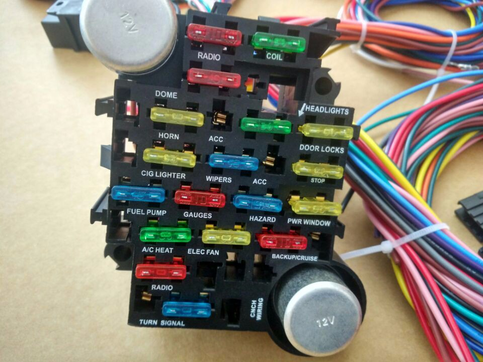 12v Universal Auto Wiring Harness Complete Kits With