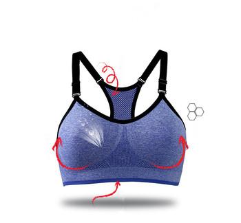 821538966027f Detachable Shoulder Strap Blue Yoga Sports Bras For Large Breasts ...