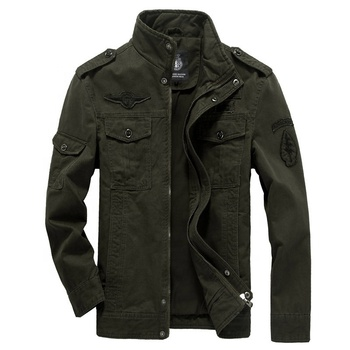 2019 Hot Fashion Casual Design High Quality Tactical Male Outwear Plus Size winter 100% Cotton Coach Military Man jacket