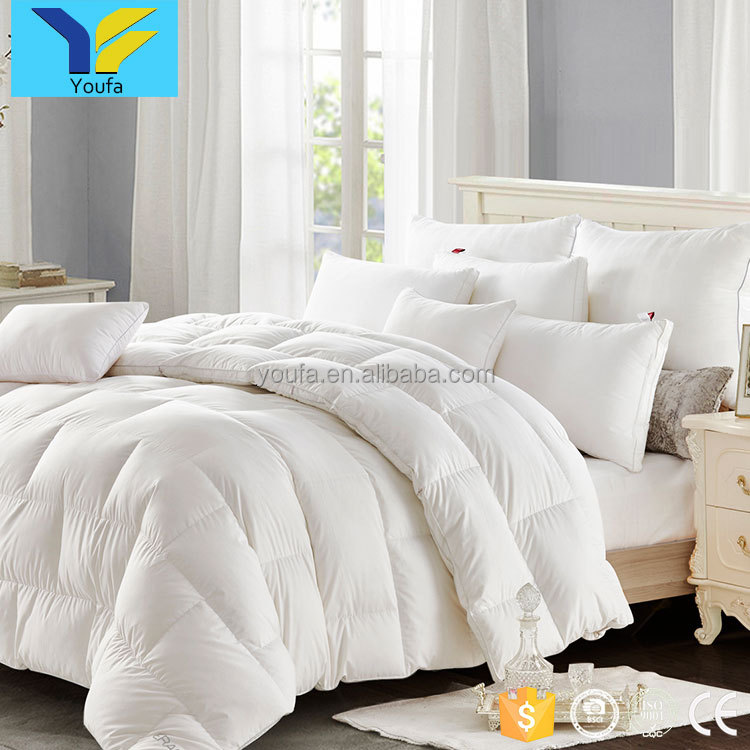 Luxury wholesale queen comforter cotton custom white hotel duck down bed comforter set duvet quilt
