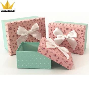 Engagement Baby Shower Dress Gift Packaging Hard Paper Mache Box