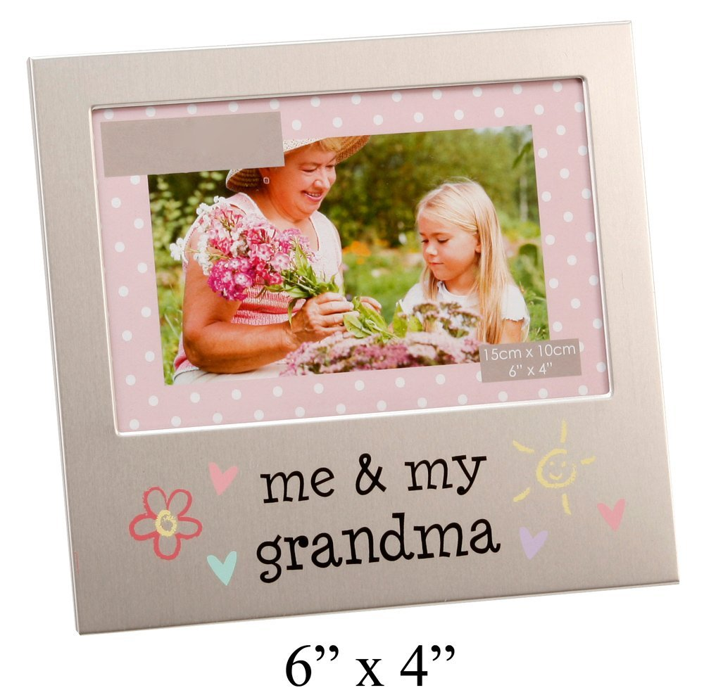 """""""Me & My Grandma"""" Brushed Silver 6"""" x 4"""" Picture Frame By Haysom Interiors"""