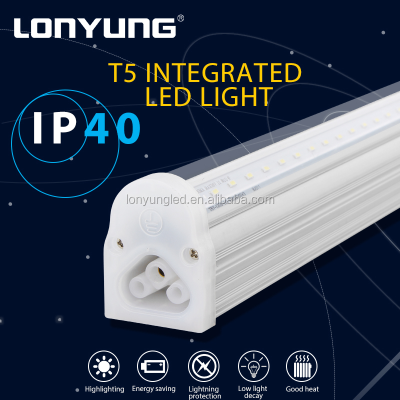 LED lighting solutions Factory suspending / surface mounted integrated t5 led fixture