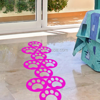Custom shape silk screen printing floor Stickers Decals