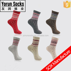 cute winter warm rabbit wool soft socks for women