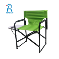 High quality Outdoor Camping Lightweight Aluminum Director Folding Chair with Folding side table