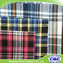 recycle cotton yarn dyed checkered fabrics for sale