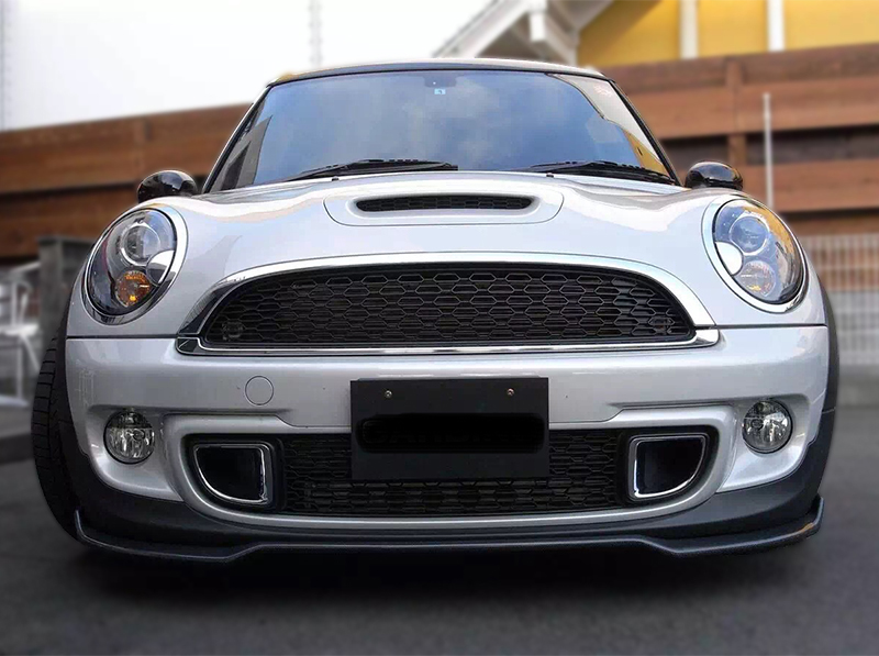Fiberglass Splitter For Mini Cooper R56 S Garbino Front Lip Fit - Buy Front  Bumper Lip For Mini Cooper,Front Diffuser For R56,Body Kit For Mini Cooper