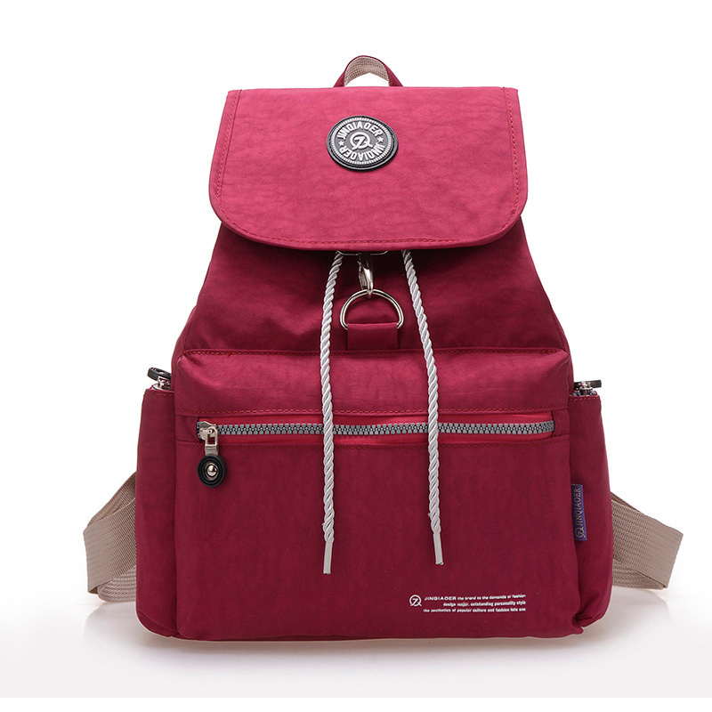 1 Pcs Casual Women Backpack 2015 Waterproof Nylon 10 Colors Girl Lady Women's Backpacks Sport Travelbag Bags mochila feminina