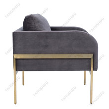 TSF-7725 Restaurant leisure swan velvet sex single sofa chair