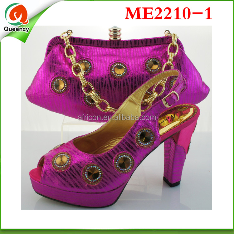 Fashion 2016 Bags 3 Wholesale Orange ME2210 And Color Ladies African Shoes 1YZaBqB