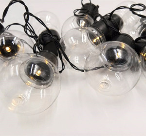 hot sale solar decorative transparent bulb string LED light for party in the garden /patio/park/outdoor