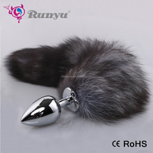 Metal Tail Plugs Stainless Steel Silver Butt Plug tail