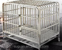 Suguan 2017 hot sale Chrome plated tube metal dog cage